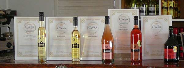 More Awards for our wines